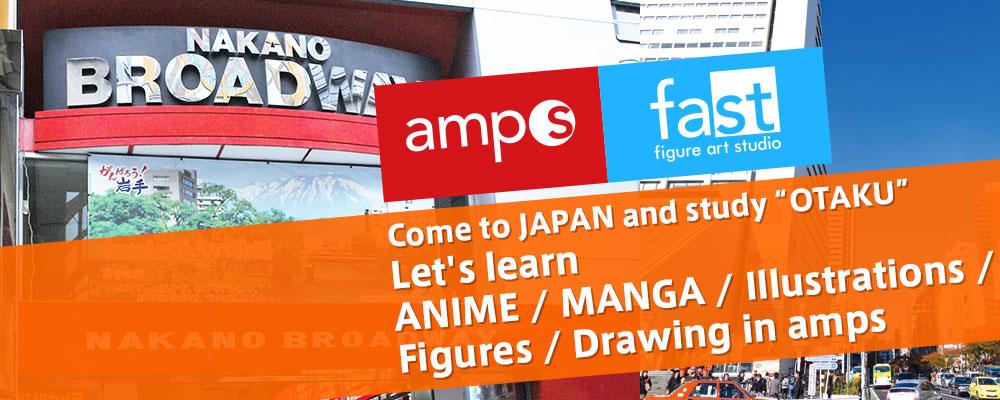 Let's learn ANIME / MANGA / Illustrations / Figures / Drawing in amps